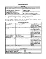 Procurement Plan-Tranche 1